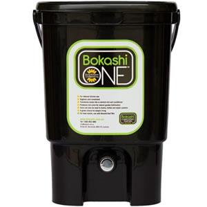 Bokashi Bucket – Black W/ 1kg Powder