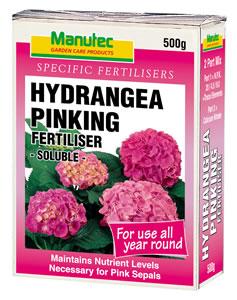 Manutec Hydrangea Pinking Fertiliser 500g