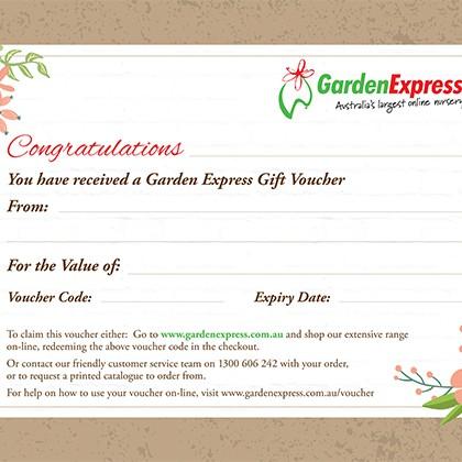 garden express gift voucher garden express
