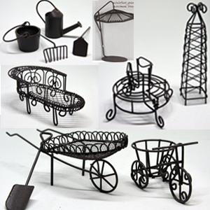 Mini Garden Furniture Collection Rust