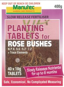 Manutec Slow Release Rose Planting Tablet