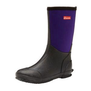 Sloggers Womens Slush Boot – Size 6, Black/plum