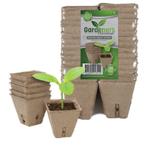 Gardeners Advantage Peat Pots- Square
