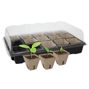 Gardeners Advantage Peat Pots & Tray
