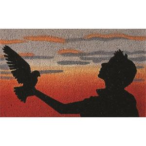 Sole-mate Door Mat – Boy And Bird