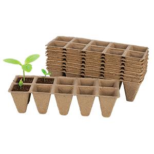 Gardeners Advantage Peat Pot Seedling Tray