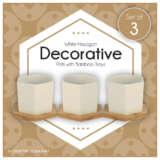 Hexagonal Ceramic Pot – Trio (3 X 100mm)