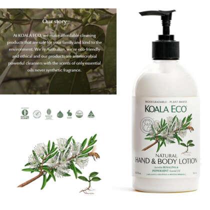 Koala Eco Natural Hand Body Lotion Rosalina Peppermint Acckecohbl - Garden Express Australia